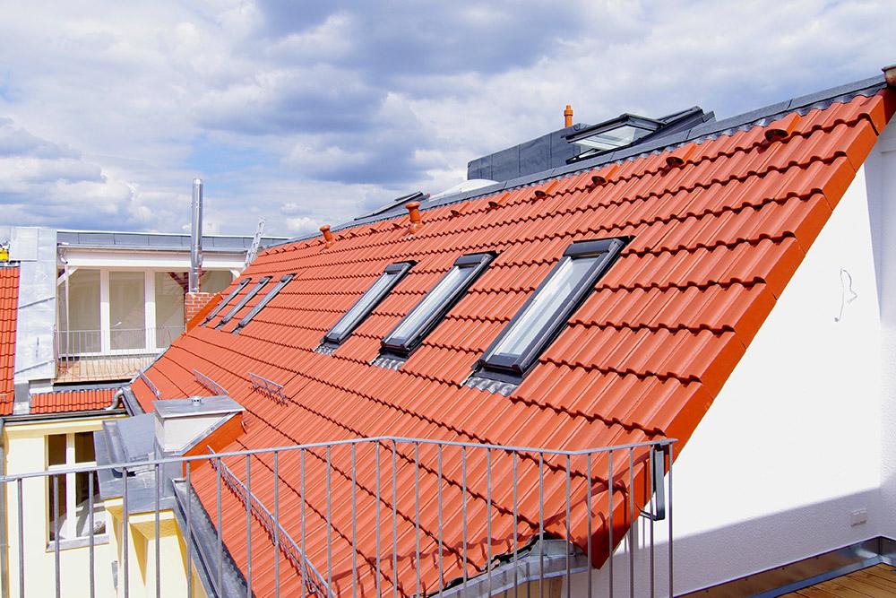 Dachgeschossausbau Dacheindeckung