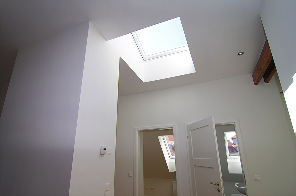 Dachgeschossausbau mit Dachfenstern