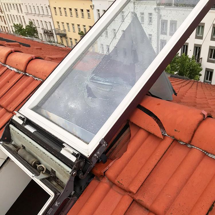 Dachfenster Sturmschaden